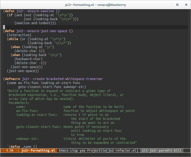 A dark window decoration for Emacs